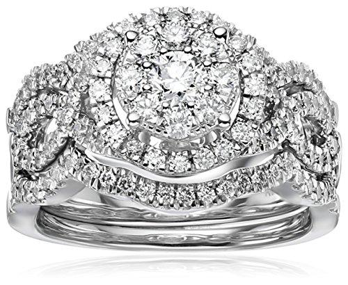 14k White Gold Diamond 3-Piece