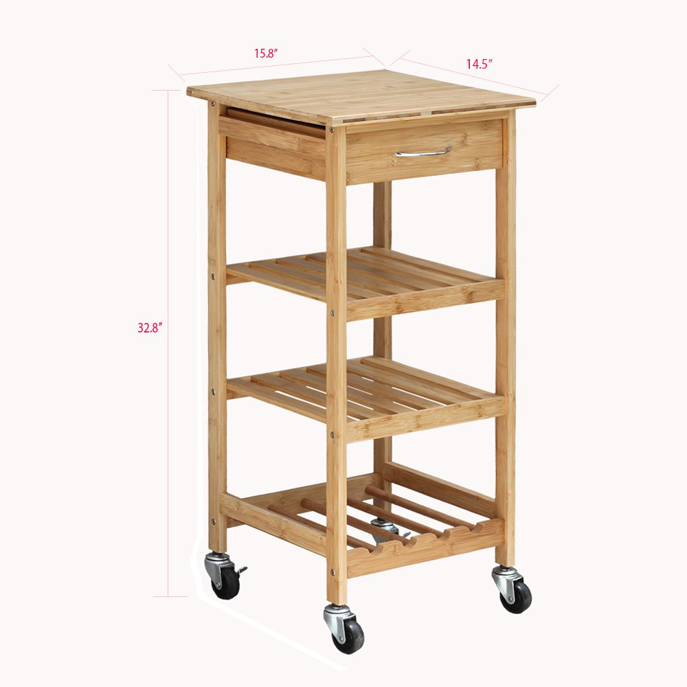 Oceanstar Design Group Bamboo Kitchen Trolley by Oceanstar (Image #4)