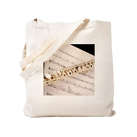 CafePress - Flauta y música - Gamuza de bolsa de lona bolsa ...