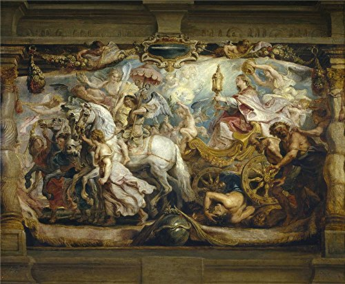 High Quality Polyster Canvas ,the Reproductions Art Decorative Canvas Prints Of Oil Painting 'Rubens Peter Paul Triunfo De La Iglesia 1625 26 ', 30 X 36 Inch / 76 X 92 Cm Is Best For Basement Artwork And Home Decoration And Gifts