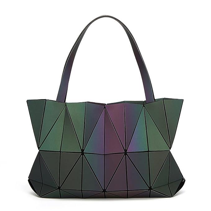 579d1f33db Borsa Da Donna A Tracolla Pieghevole Borsa Geometrica Borsa Luminosa Moda  Geometrica,PhotoColor-OneSize: Amazon.it: Abbigliamento