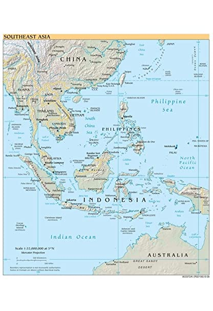 Amazon map of southeast asia political art poster print 13 x map of southeast asia political art poster print 13 x 19in gumiabroncs Images