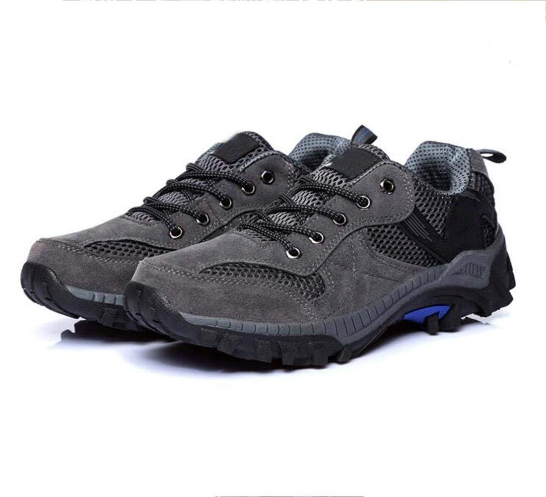 Sportschuhe im Freien Schuhe Wanderschuhe Sommer atmungsaktiv Mesh Wanderschuhe (Farbe   Grau, Größe   47)
