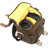 Caden Digitalkamera Tasche wasserdichte Segeltuch-Weinlese-Schultertasche fuer Nikon Sony Canon DSLR