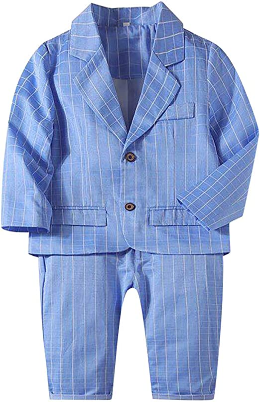 Kids Outfits Clothing Suits 2Pcs Jacket Pants Gentleman Wedding Party Formal Boys Performance Clothes Sets