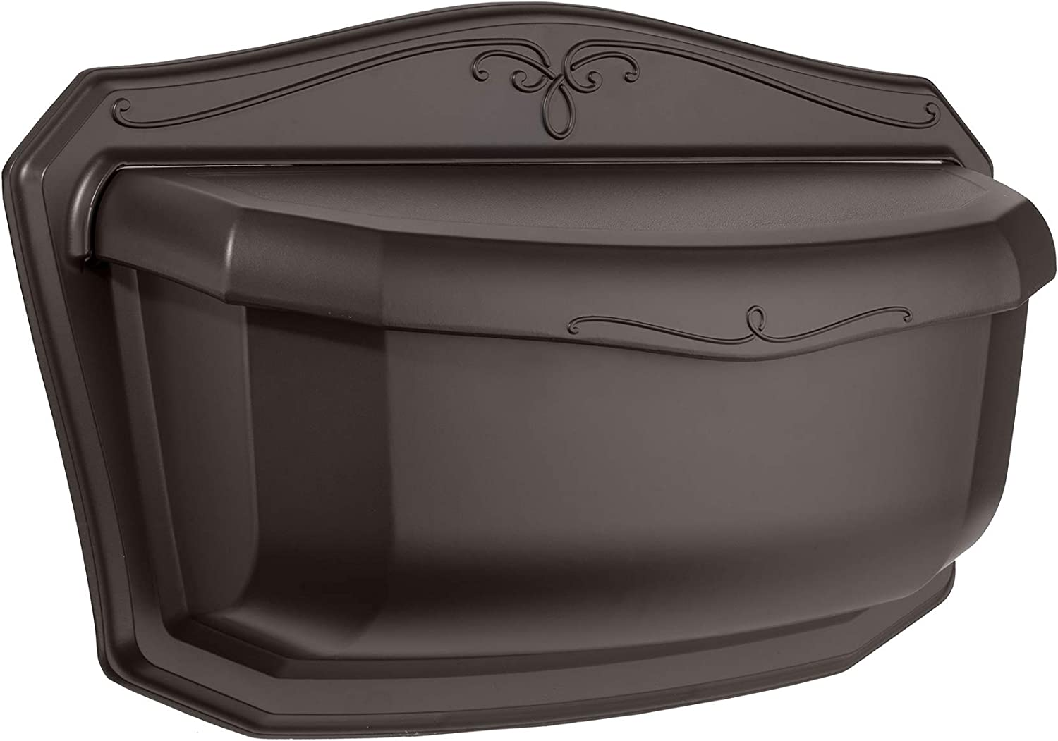 ARCHITECTURAL MAILBOXES 2541RZ-10 Villa Rubbed Bronze Wall Mount Mailbox, Large