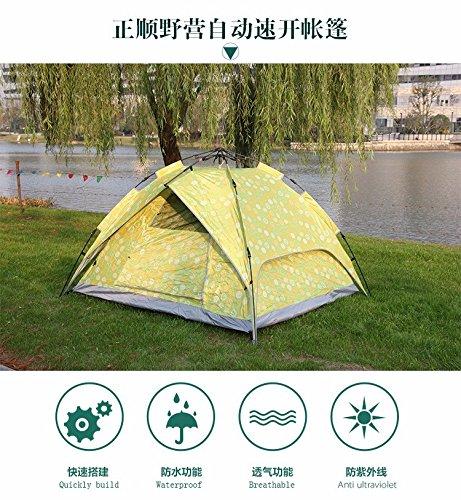 zhudj al aire libre tienda de campaña, doble velocidad automático abierto tienda de campaña, impermeable, prueba de sol, insectos prueba al aire libre Camping tienda de campaña, poco
