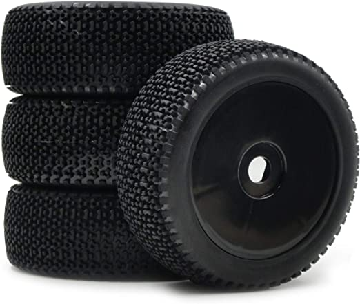4pcs RC 1//8 Buggy Off Road Tires Hex 17mm Wheels Fit for 1:8 Losi HPI XTR Badlands Cars