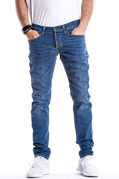 9fa21fc8dd Meltin'Pot - Jeans Maxi D0167-UK482 per Uomo, vestibilità Slim, Vita ...