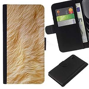 iBinBang / Flip Funda de Cuero Case Cover - Beige Animal del perro amarillo de la piel - Sony Xperia Z4