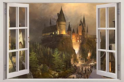 Hogwarts Harry Potter 3D Window View Decal Graphic WALL STICKER Art Mural H322 Huge & Amazon.com: Hogwarts Harry Potter 3D Window View Decal Graphic WALL ...