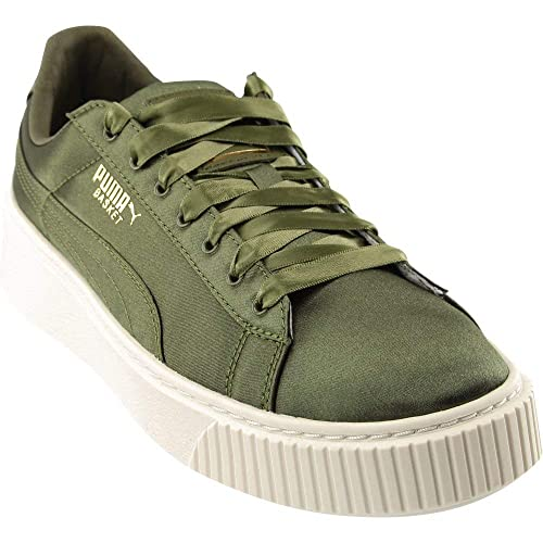 ca93dc5c761e Image Unavailable. Image not available for. Color  PUMA Basket Platform  Satin
