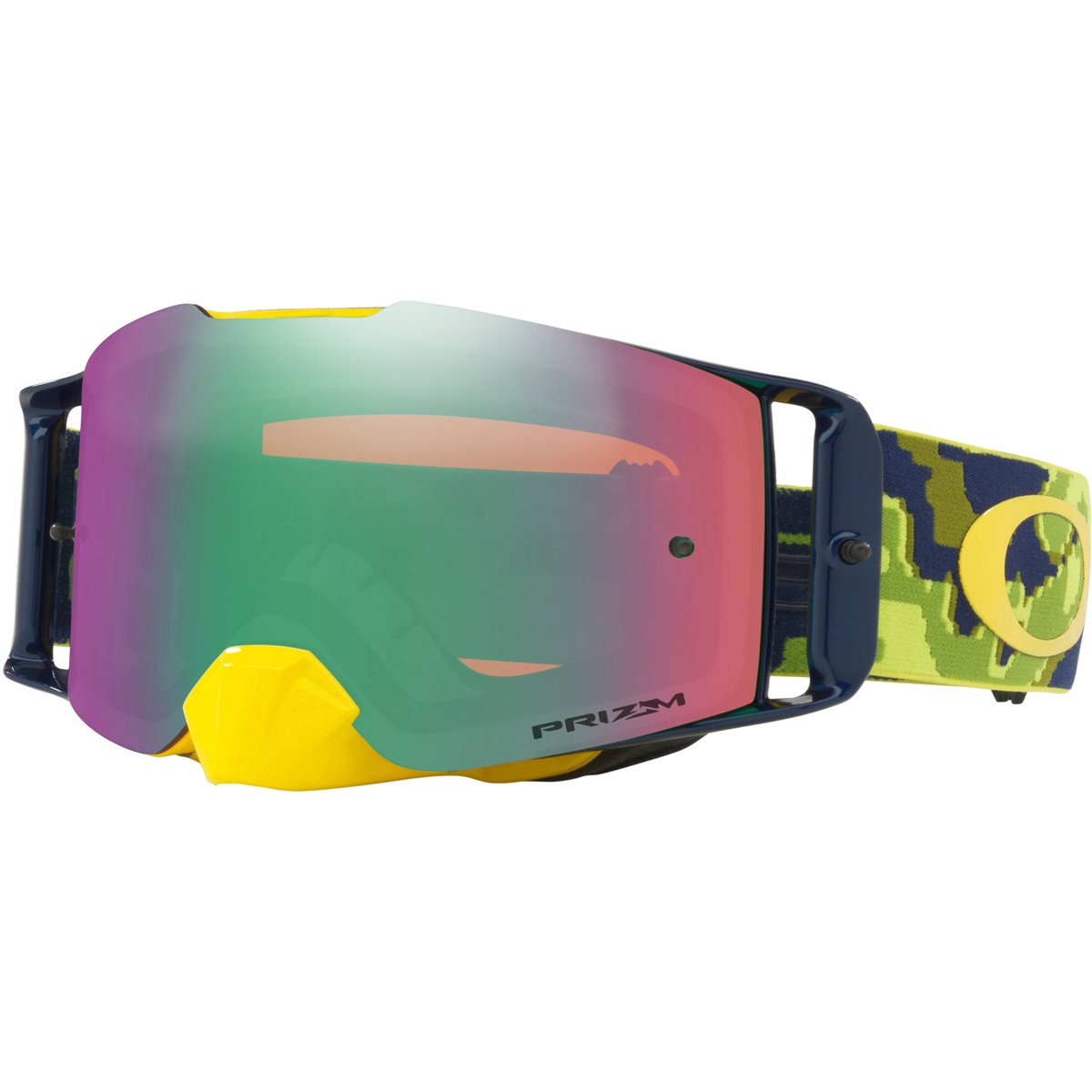 Oakley FL MX ThermoCamo GrnYel with Prizm MX Jade unisex-adult Goggles (Green, Large), 1 Pack
