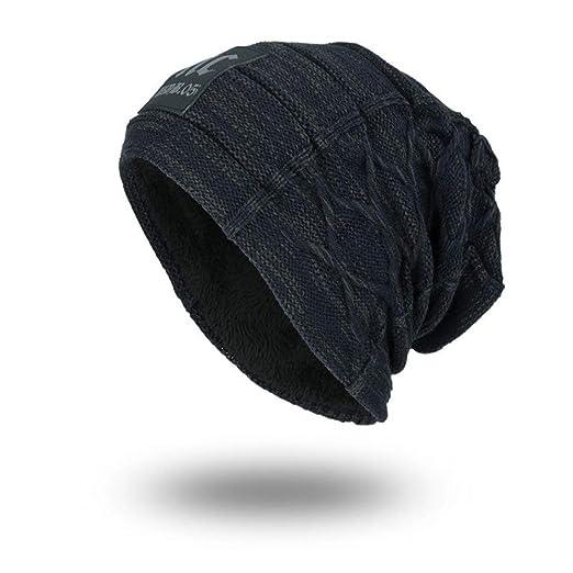 KFEK Sombrero versión Coreana del Sombrero de Lana de Punto de ...