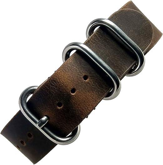 Espresso Brown Seat Belt Nato Strap 20mm-22mm-24mm