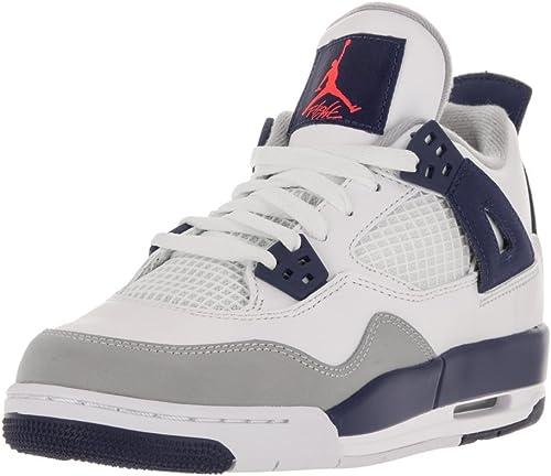 Nike Air Jordan 4 Retro GG, Zapatillas de Running para Mujer, Blanco/Naranja/Azul (White/Hypr Orng-DP Ryl Bl-WLF), 42 1/2 EU: Amazon.es: Zapatos y complementos