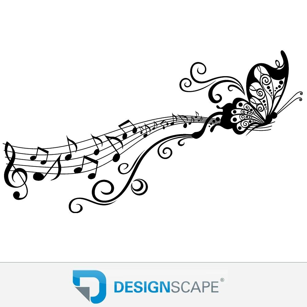 DESIGNSCAPE® Wandtattoo Schmetterling auf Notenlinie     Wandtattoo für Musikfans 120 x 65 cm (Breite x Höhe) weiss DW805111-M-F5 B07CHFL199 Wandtattoos & Wandbilder b84b61