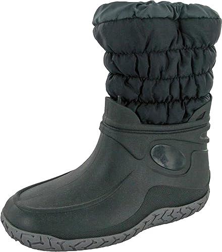 Slush Mirak Warmlined Damen Stiefel, wasserdicht, Warm, für Winter, schneesicher Welly Schuhe, Blau - Dunkelblau - Größe: 35