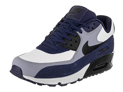 reputable site e37c4 ce62e Image Unavailable. Image not available for. Color  Nike Mens Air Max 90  Leather Running Shoes ...