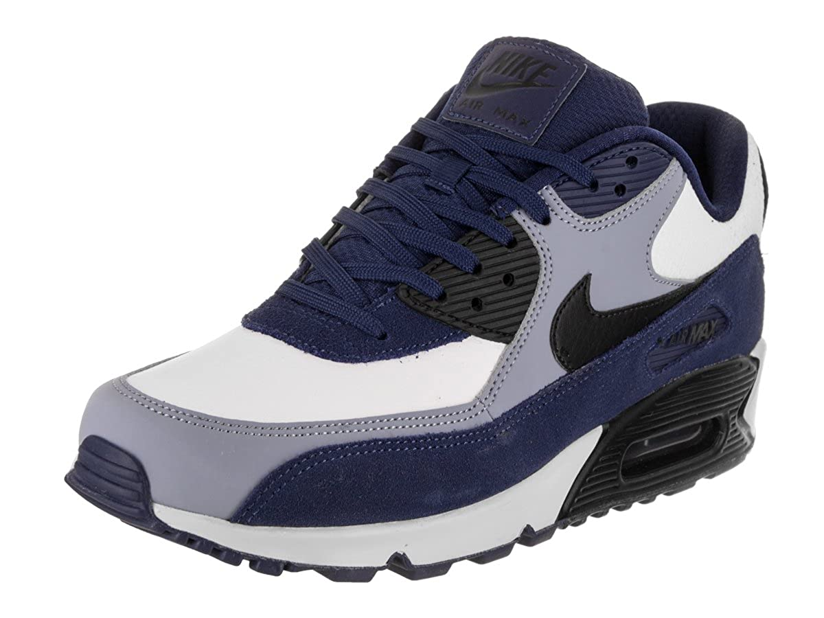 sports shoes df06f 1cdf2 Nike Men's Air Max 90 Leather Blue Void/Black/Ashen Slate Running Shoe 8.5  Men US