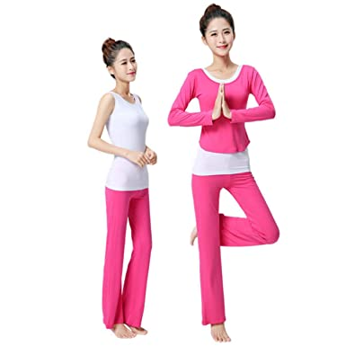 6942a71cfa Image Unavailable. Image not available for. Color  TUONFC Three Pieces Yoga  Sport Suit Women Gym Fitness Pants ...