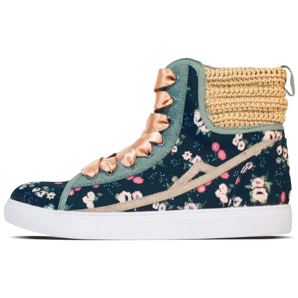 Poppy Crochet Summer Shoes for Women Encourager High-Top Style Lace-Up Sneakers, are Handcrafted