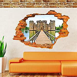 3D Old castle wall stickers for kids rooms living room decals home decor Wall sticker decoration