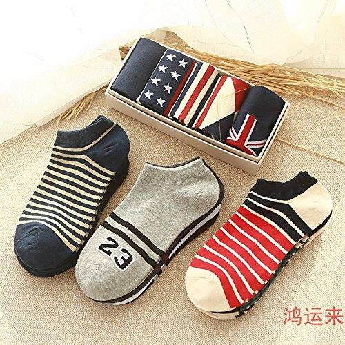 Fashion institute wind man boy Zhongshan University Tong Xuesheng outer wear socks short tube socks outdoor training shoes with low odor University Tongs