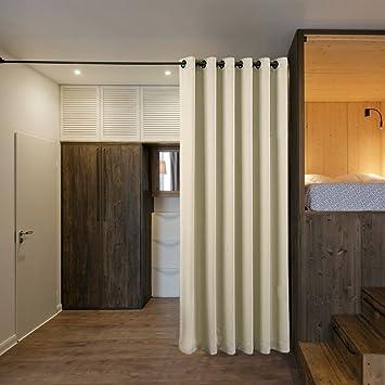 Partition Curtain Blackout Room Divider   PONYDANCE Privacy Blackout Room  Divider Curtains For Bedroom / Loft