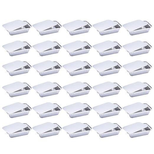 BESTONZON Bandejas Grandes Desechables de Papel de Aluminio con ...
