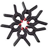 Photography Spring Clamps, 6pcs Backdrop Clamps in Nylon for Photography Backdrop Background Stand Clips/ Studio