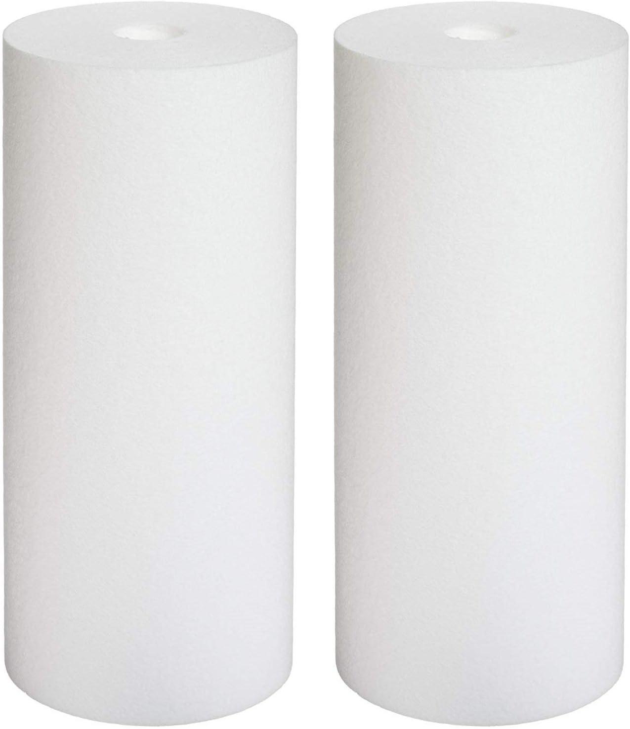Pentek DGD-2501 Spun Polypropylene Filter Cartridge 10 x 4-1//2 1, 2-Pack