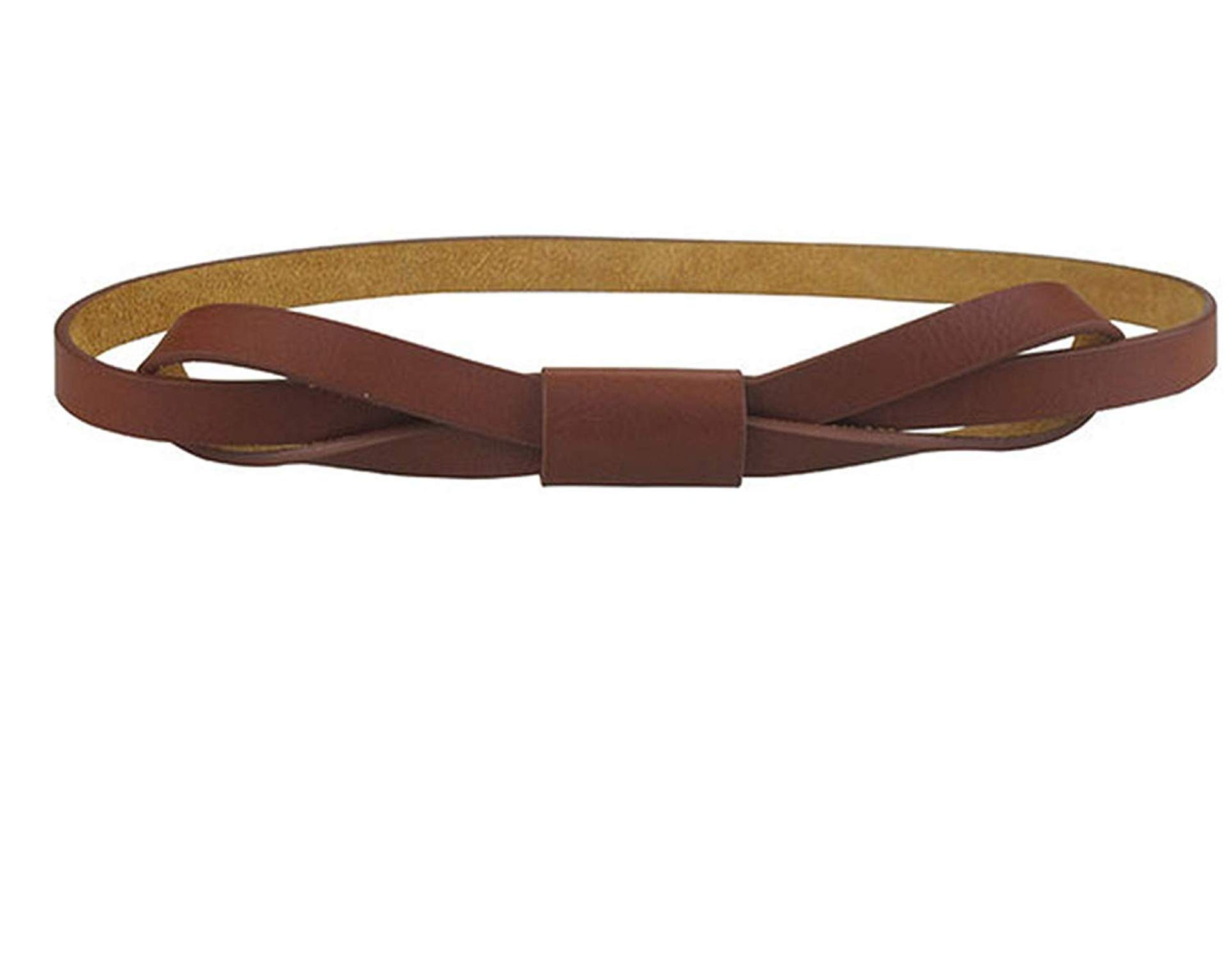OnIn Women Bowknot Faux Leather Thin Women Belt,120cm,Coffee by OnIn Apparel-belts
