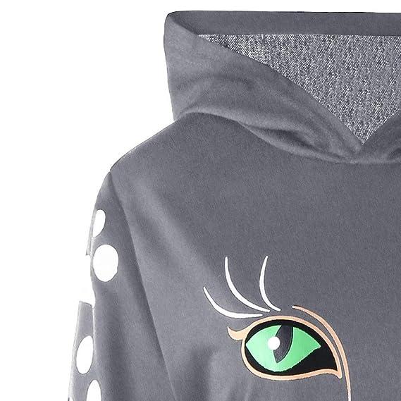 Luckycat Sudadera para Mujer Sudadera con Capucha y Estampado de Gatos Sudadera con Capucha Sudaderas con Capucha: Amazon.es: Ropa y accesorios