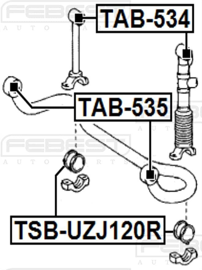 Oem Toyota Rear Stabilizer Bushing 48818-60010 Febest