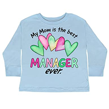 d7bd74f5a Amazon.com: inktastic - My Mom is The Best Manager Ever Toddler Long Sleeve  T-Shirt 30281: Clothing