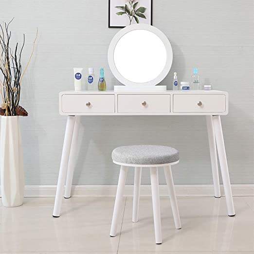 Huisen Furniture - Mesa de tocador de Madera con Espejo, con ...