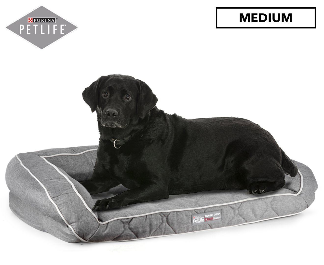 Pet Life Odour Resistant Ortho Sofa Light Grey M