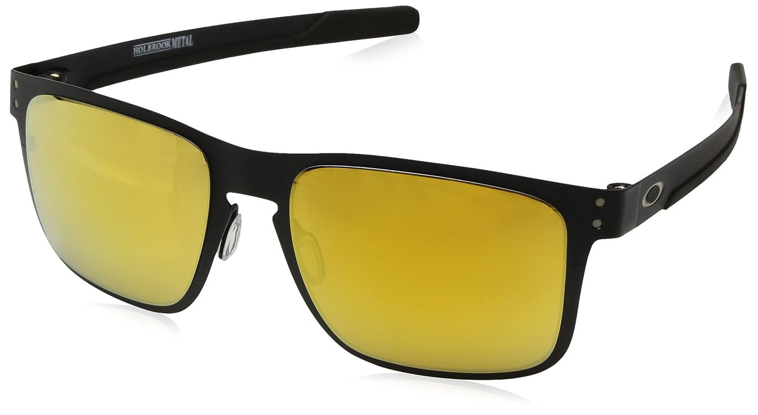 1ae4db612c7c8 Amazon.com  Oakley Men s Holbrook Metal Non-Polarized Iridium Square  Sunglasses MATTE BLACK 55.0 mm  Oakley  Clothing