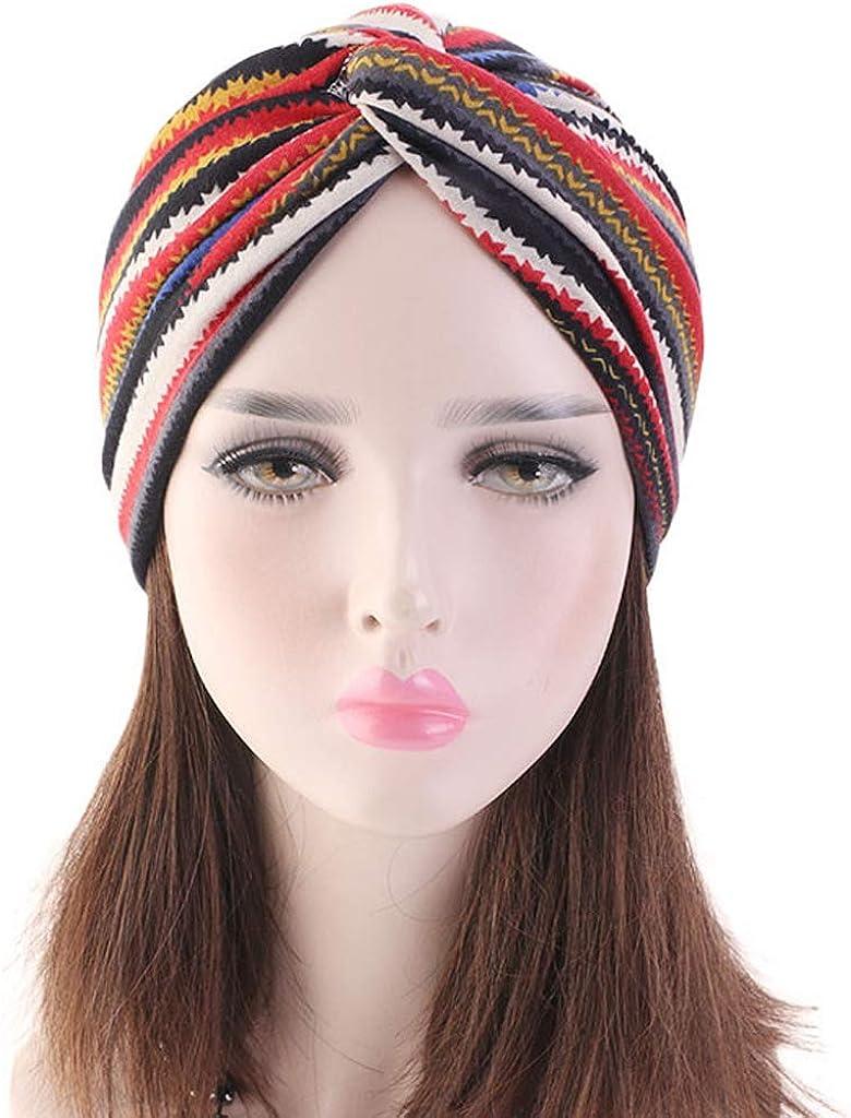 Hellery Turban Muslim Hut Bandana Kopftuch Chemo Kopfbedeckung Beanie M/ütze Piratentuch Baumwolle