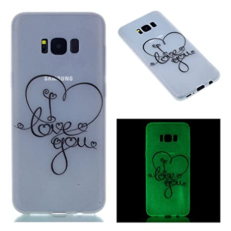 XiaoXiMi Carcasa Samsung Galaxy S8 PLUS Funda Luminosa de Silicona Caucho Gel para Samsung Galaxy S8 PLUS Soft Luminous TPU Silicone Case Cover ...