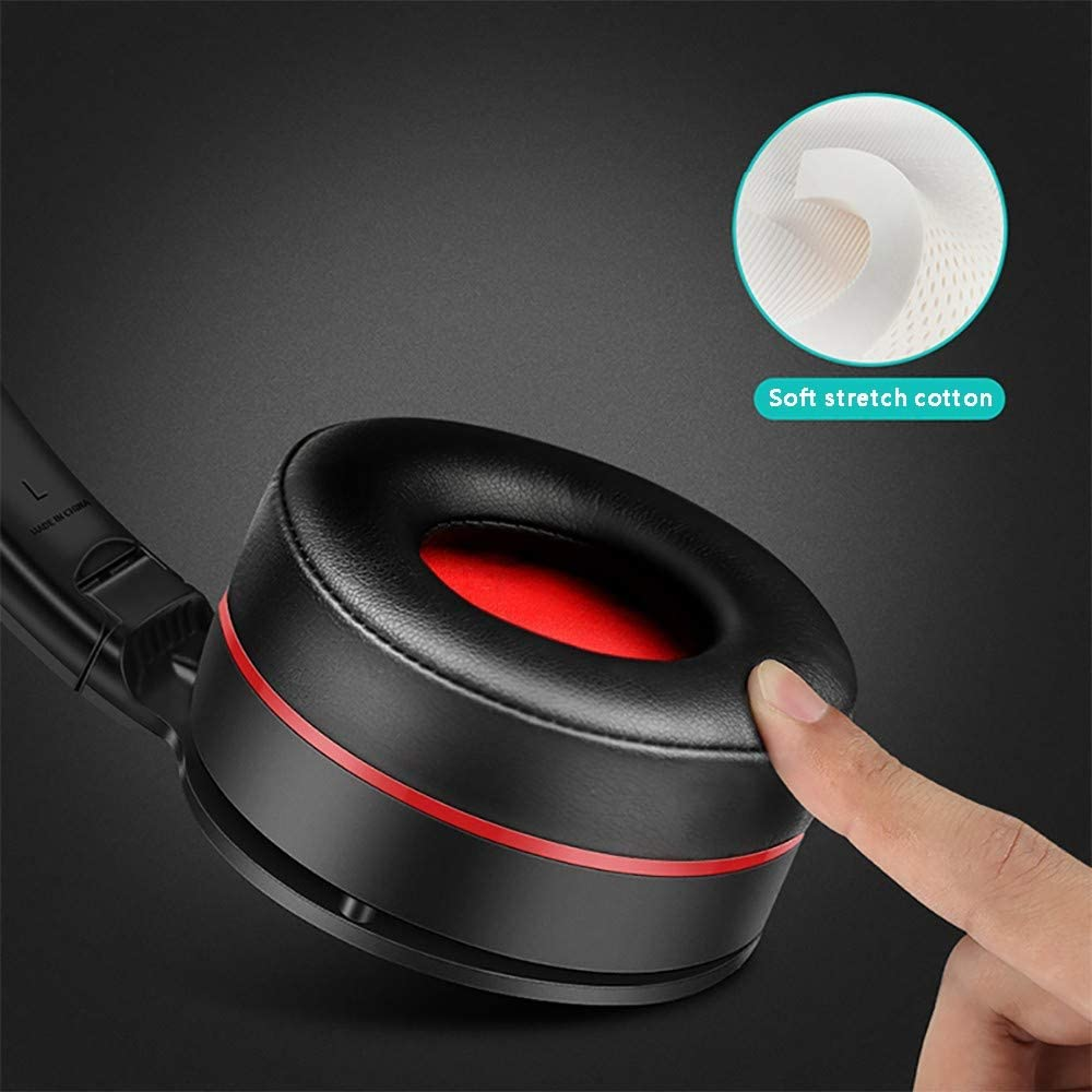 FCHDZ Bluetooth headphones over ear wireless bluetooth headphones over ear with mic fast charging wired and wireless insert card three modes suitable for most bluetooth-enabled devices