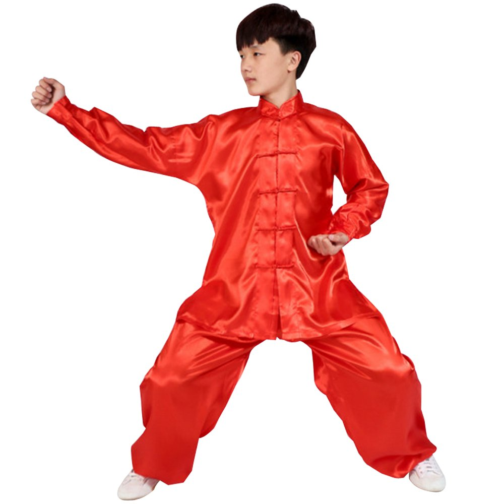 ZEVONDA Unisex Kung Fu Polyester Martial Arts Outfits Clothing Tai Chi Uniforms
