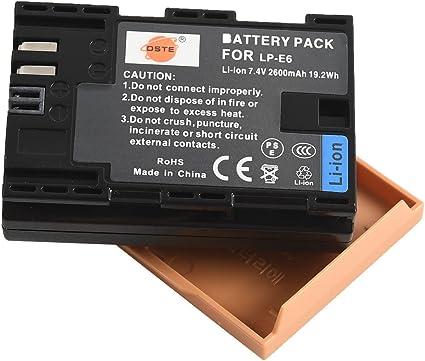 bg-e9 bg-e13 BATTERIA 2x per Canon lpe6 lpe-6 lp-e6 per Batteria Grip bg-e7
