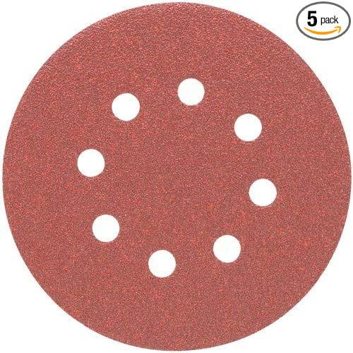 5-Pack PORTER-CABLE 725802205 No.220 5-Inch Psa 8-Hole Disc
