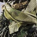 YAOBAO Filet De Camouflage, Filet Tactique en Filet Camo Écharpe Sniper Voile, Camouflez Votre Cou, Votre Visage Et… 13
