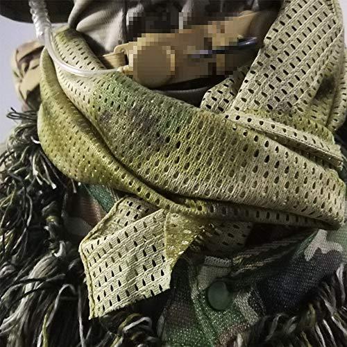 YAOBAO Filet De Camouflage, Filet Tactique en Filet Camo Écharpe Sniper Voile, Camouflez Votre Cou, Votre Visage Et… 6