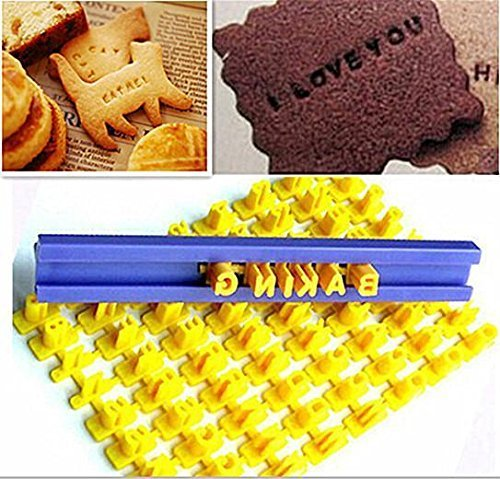 Ainest Alphabet Letter Number Cookie Press Stamp Embosser Cutter Fondant Mould Cake WOS