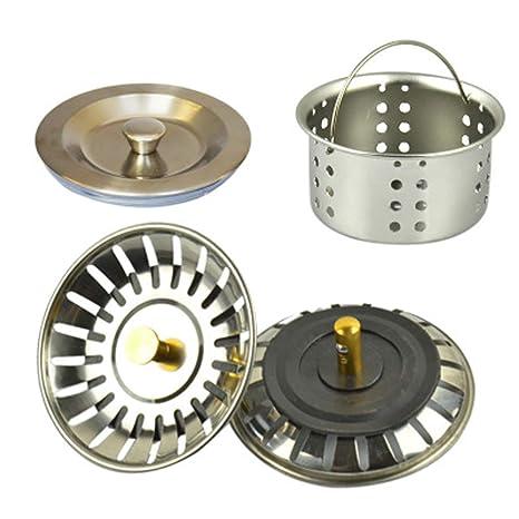 Tapón de acero inoxidable para fregadero de cocina, filtro ...
