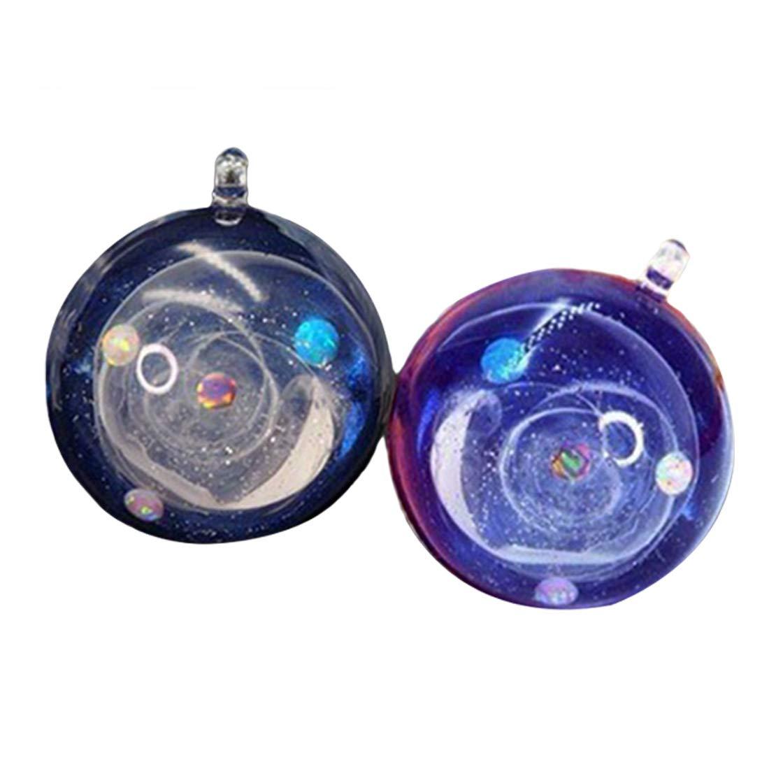 Molde de Resina de Silicona Transparente Arte de DIY Diferentes tama/ños Universo Forma de Bola Resina epoxi moldes para joyer/ía